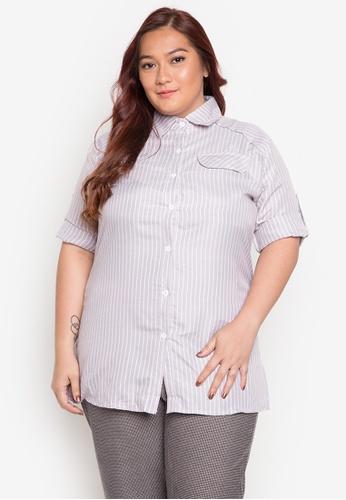 Maldita X grey Diana Plus Size Buttondown Shirt MA587AA0JCIDPH_1