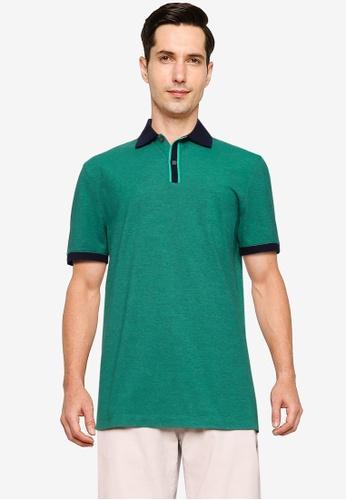 Banana Republic navy Merino Long Sleeve Polo Shirt E07D6AA52D5F47GS_1