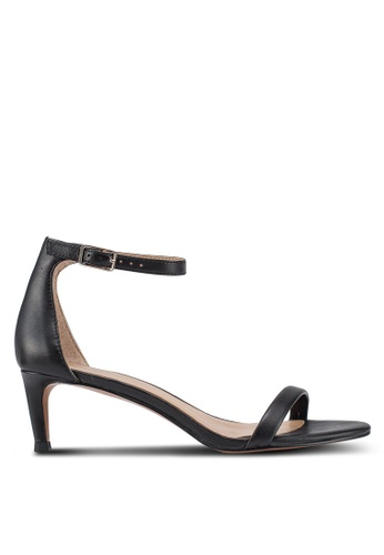 Banana Republic black Bare Kitten Heel Sandals 92E45SHF104533GS_1
