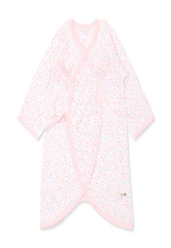Organic mom white Organic Cotton Black Dot Swaddle Gown 5C4DFKA2096252GS_1