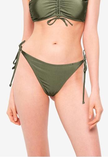 Cotton On Body green Tie Side Hipster Cheeky Bikini Bottom 88491US3BC77FFGS_1