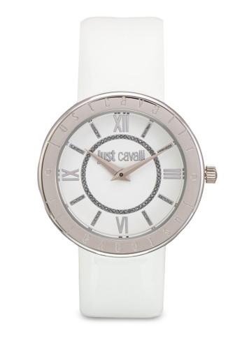 R7251532502 Just Shiny 皮革圓錶esprit taiwan, 錶類, 飾品配件
