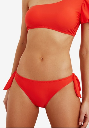 Trendyol white and red Tie Detailed Bikini Bottom 8D107USC7AAE0CGS_1