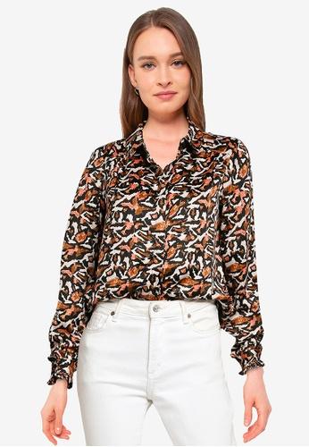 Vero Moda grey Cambria Long Sleeve Shirt 1C696AAE2EF951GS_1