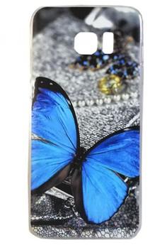 Samsung Galaxy S7 Edge Blue Butterfly Design Hard Case