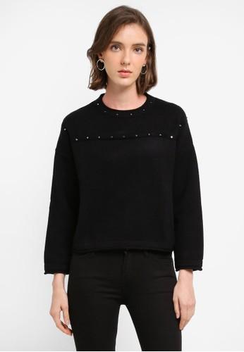 MANGO black Studded Sweater 7DF2AAA55B22BFGS_1