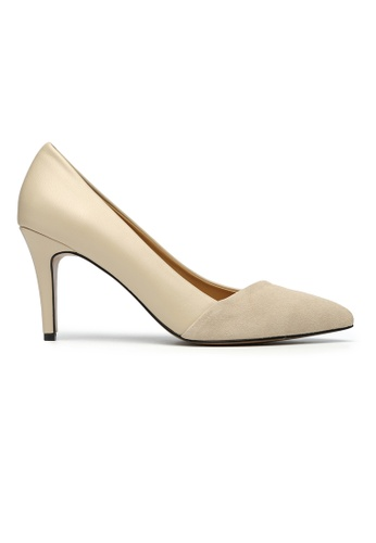 Byford beige Berkley Suede Pointed Toe Heels 9FF70SH5515527GS_1