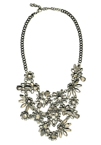 Istana Accessories Kalung Nesela Flower Fashion Necklace-Silver