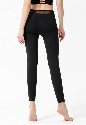 B-Code black ZYG3049-Lady Quick Drying Running Fitness Yoga Sports Leggings -Black 2FA77AA49109B6GS_1