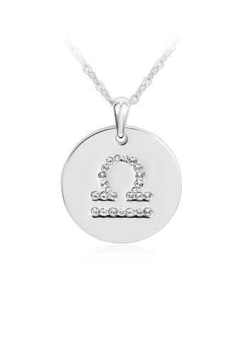 OUXI silver OUXI Zodiac Necklace Libra OU821AC21PPIMY_1