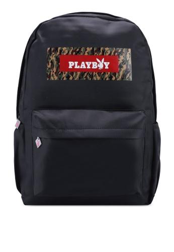 Playboy black Playboy Backpack BCF52AC44DF558GS_1