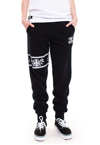 Reoparudo black RPD Reflective Logo Print Sweat Pants (Black) 2556BAAF1122E6GS_1