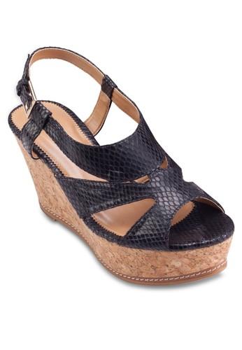 厚底楔型salon esprit 香港跟涼鞋, 女鞋, 楔形涼鞋