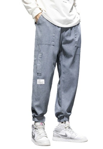 Trendyshop blue Skinny Jogger Pants 9F811AAB92B1E2GS_1