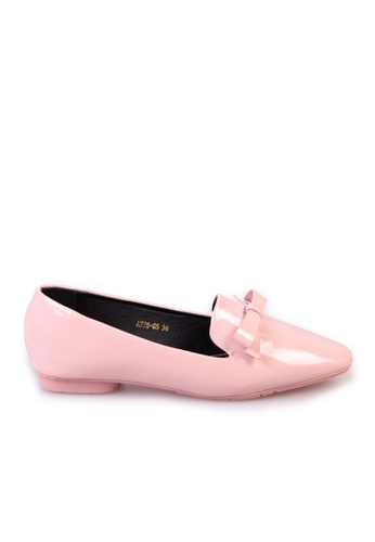 Sunnydaysweety pink Big Sale Item - small sweet bow square head flat shoes C03152 4A619SHFB722B9GS_1
