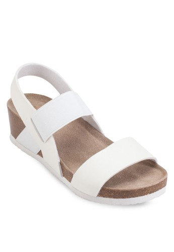 寬帶厚底楔型跟涼鞋, 女鞋esprit地址, 楔形涼鞋