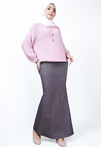 Ladies Jeans 紫色 高尚长裙 D0F38AA23F4F01GS_1