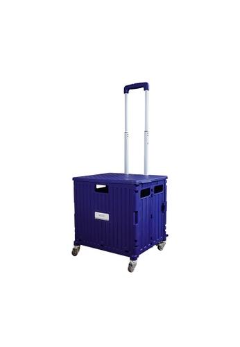 HOUZE purple HOUZE - Moveet Foldable Shopping Trolley - Purple 3DAC5HL8AFCFE5GS_1
