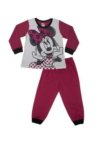 Disney Baby pink Disney Baby Girl Round Neck Pyjamas 688C7KAC4C7B1BGS_1