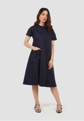MISSISSIPPI navy Dress Kaos Maxi Wanita A05590M Navy C177FAABAE0B3FGS_1