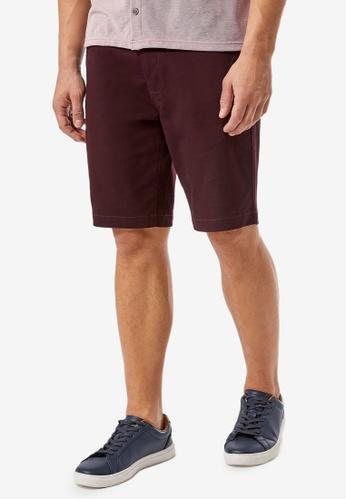 Burton Menswear London red Winter Burgundy Chino Shorts B7567AA0F82261GS_1
