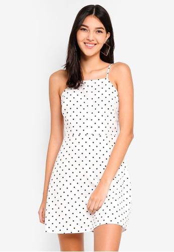 Supre white and multi High Neck Strappy Cami Dress D31A3AAFC8B2CBGS_1