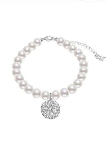 Pearly Lustre silver Pearly Lustre Elegant Freshwater Pearl Bracelet WB00051 49614AC46249E1GS_1