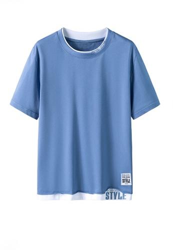 Twenty Eight Shoes blue VANSA Fashion Short Sleeve Tee Shirt VCM-T2170 E67FCAAEEDD56AGS_1
