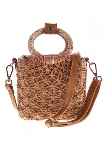 Style Cat brown and beige Style Cat Cuba Macrame Sling 216DAACB7C485AGS_1