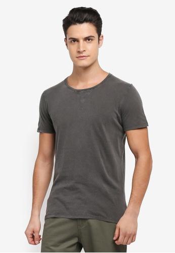 Selected Homme 黑色 短袖素色質感T恤 B3C90AA76BBAADGS_1