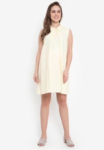 bd9a0282c855 Shop Hint Maternity Baby Collar Sleeveless Dress Online on ZALORA ...