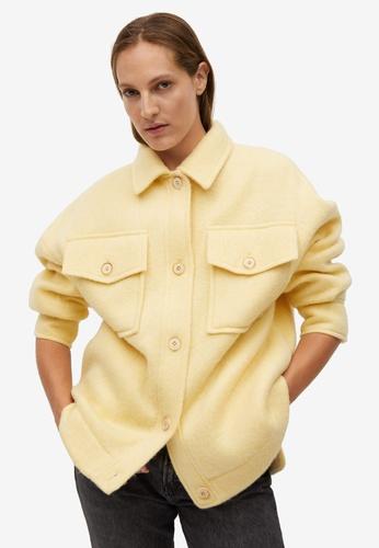 Mango yellow Oversize Pockets Jacket DEAA5AAB5DB9E8GS_1