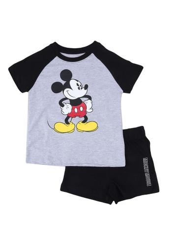 FOX Kids & Baby grey Black And Grey T-Shirt And Shorts Set A62D8KA369FC89GS_1