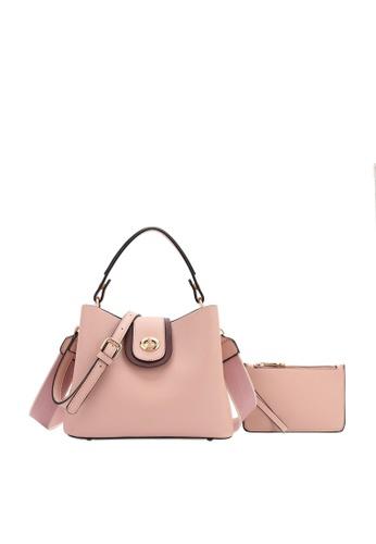 Swiss Polo pink 2 in 1 Top-Handle Sling Bag 63BF1AC8DDAD4BGS_1