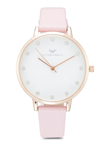 Victoria Walls Watches pink Designer Watch-Elegant Leather Strap 6EA46AC8E003CFGS_1