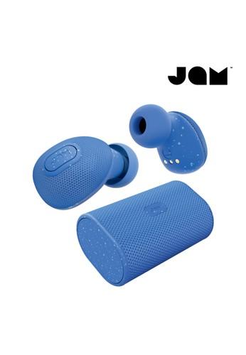 Jam Audio blue Earphone Bluetooth Wireless Live True Jam Audio - Blue 86C23ES67D7627GS_1