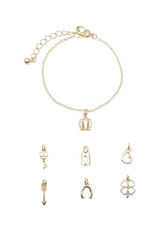 LUCCACAL Interchangeable Charms Bracelet LU294AC52FPFMY_1