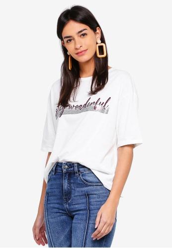 ESPRIT white Short Sleeve T-Shirt 5CEA5AA498AF67GS_1