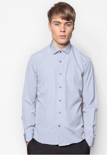 貼身長袖襯衫,esprit 兼職 服飾, 印花襯衫