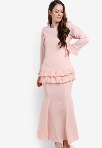 Butik Sireh Pinang pink Karina Baju Kurung Modern BU003AA89SESMY_1