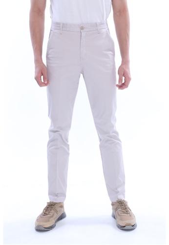 Amar Amran grey Khakis Long Pant 21DD8AAB08A948GS_1