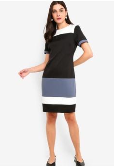 bd01e9e1fc 10% OFF ZALORA Contrast Sheath Dress RM 105.00 NOW RM 94.90 Sizes XS S M