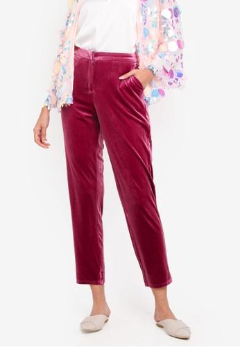 Glamorous red Slim Cut Trousers 2AB5DAAC27784AGS_1