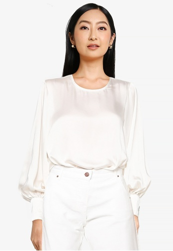 ONLY beige Ruby Satin Top C1C23AA4CBC882GS_1