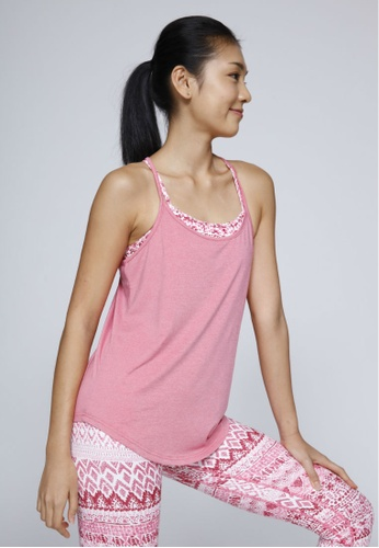 Rising Lotus pink Rising Lotus Pink Heather Swingy Top E3891AA1273488GS_1