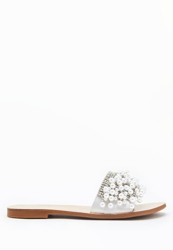 PAZZION silver Embellished Pearl Sandals 26786SH82E5F4DGS_1