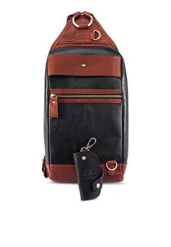 RAV Design black Leather Chestbag RA113AC0RW43MY_1