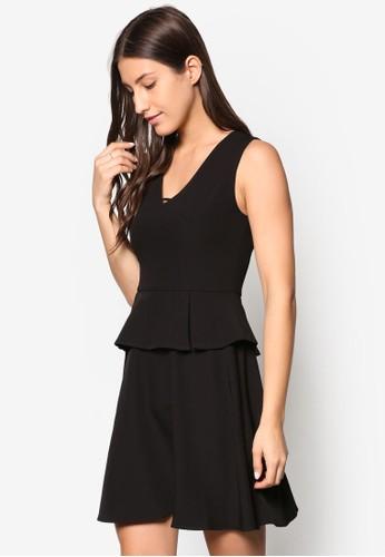 Collection 腰飾無袖連身裙、 服飾、 Love Your CurvesZALORACollection腰飾無袖連身裙最新折價