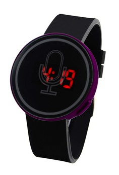 Mike Round Touch LED Unisex Silicon Strap Watch