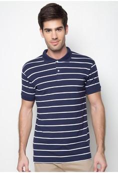 Classic Striped Polo Shirt